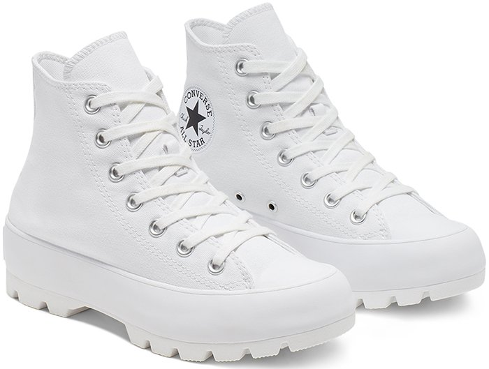 A white sneaker-boot hybrid of the iconic All Star high top