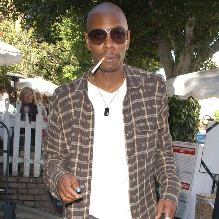 Dave Chappelle is known for being a heavy smoker