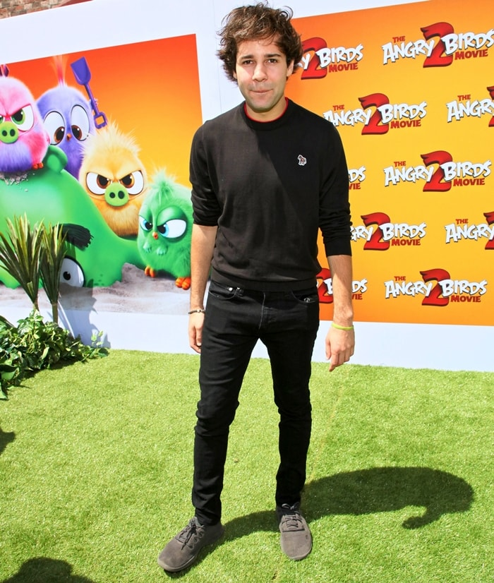 """David Dobrik attends the Los Angeles Premiere Of Sony's """"The Angry Birds Movie 2"""""""