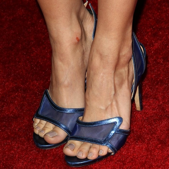 Debby Ryan shows off her perfect feet and toes