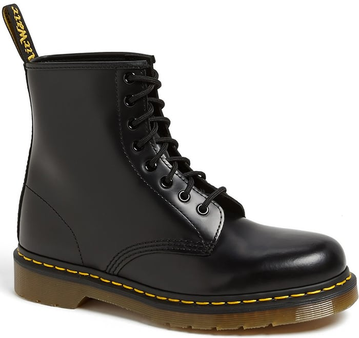 A signature sole grounds the offbeat style of an iconic lace-up boot