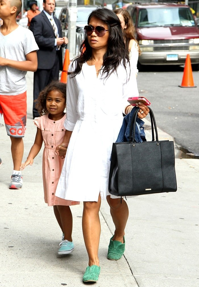 Elaine Chappelle arrives with her daughter Sonal Chappelle