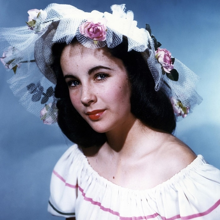 Pictured in 1946, Elizabeth Taylor transitioned to more mature roles in the 1950s