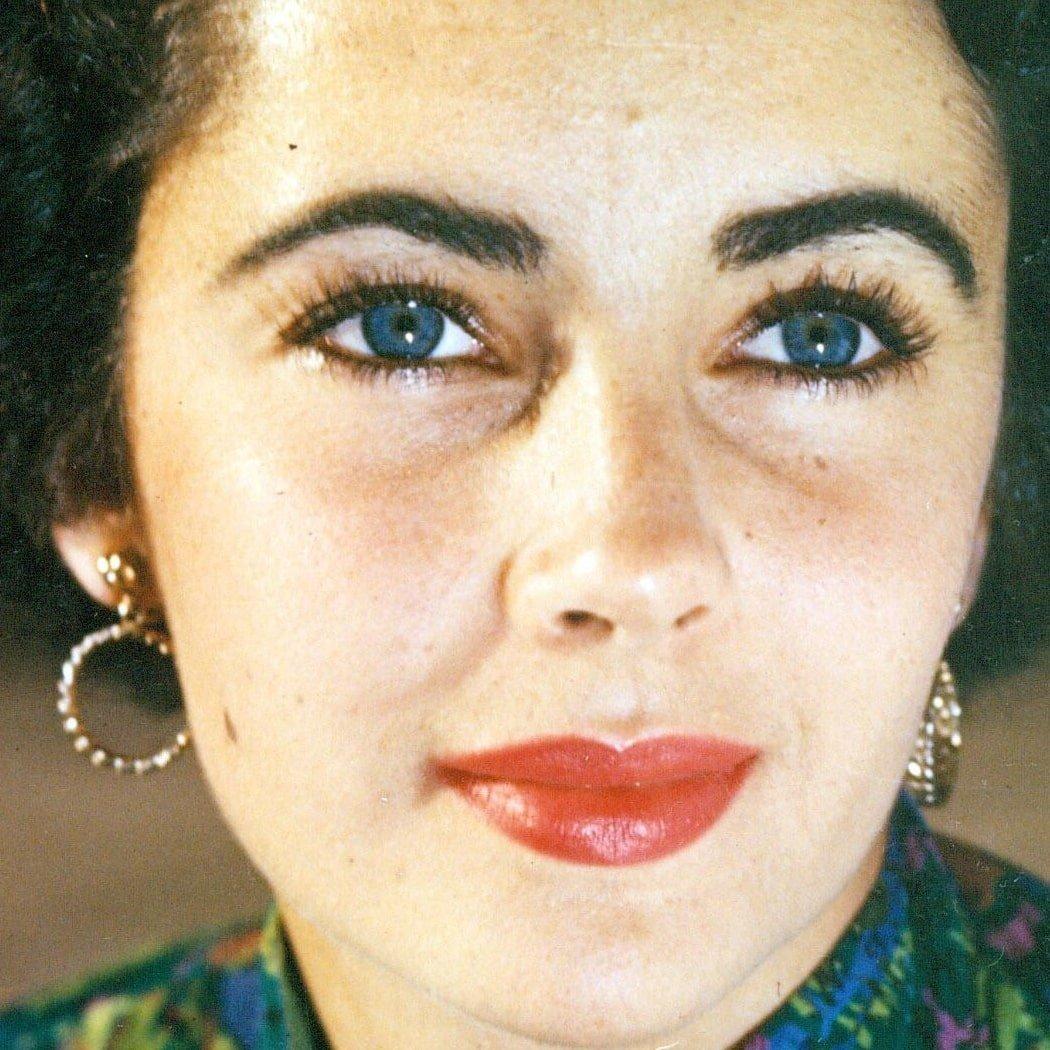 Elizabeth Taylor's beautiful eyes in particular drew attention
