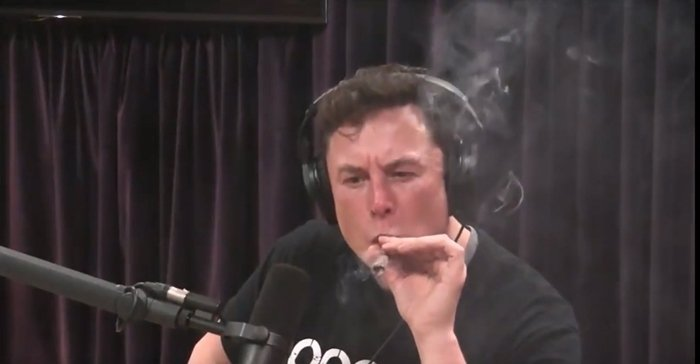 Elon Musk smoked a marijuana joint while recording the 'Joe Rogan Experience' podcast