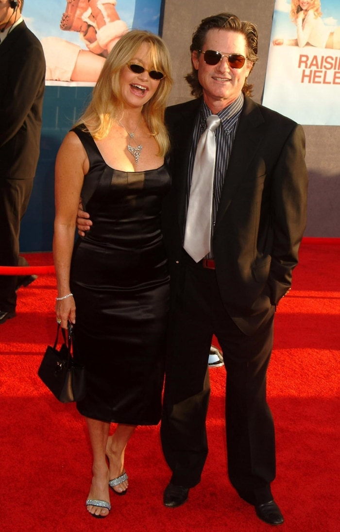 Goldie Hawn and Kurt Russell at the Los Angeles premiere of 'Raising Helen'