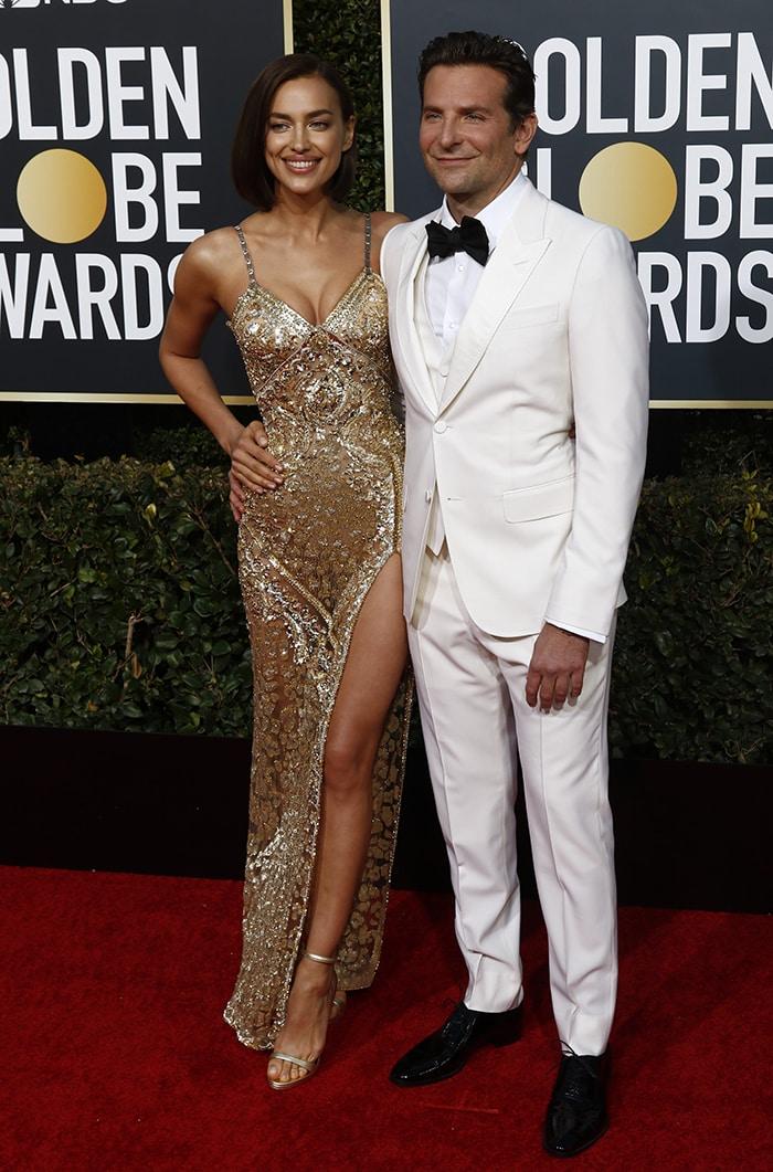 Irina Shayk and Bradley Cooper at the 76th Annual Golden Globe awards on January 6, 2019