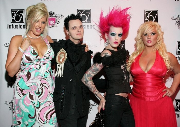 Model/Actress Ivory May, Clint Catalyst, singer Jeffree Star and actress Nicole Johnson attend an Anna Nicole Smith Tribute Event