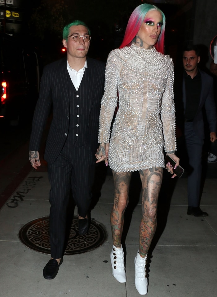 Cosmetic CEO and beauty influencer Jeffree Star and boyfriend Nathan Schwandt