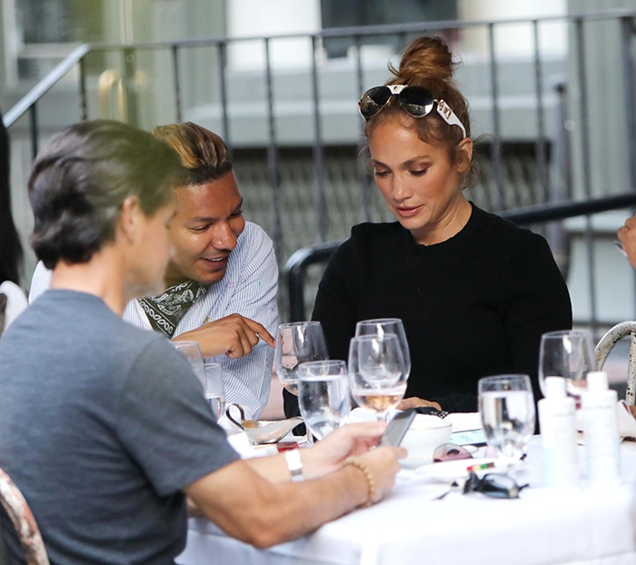Jennifer Lopez out for lunch with her friends in Manhattan on September 13, 2020