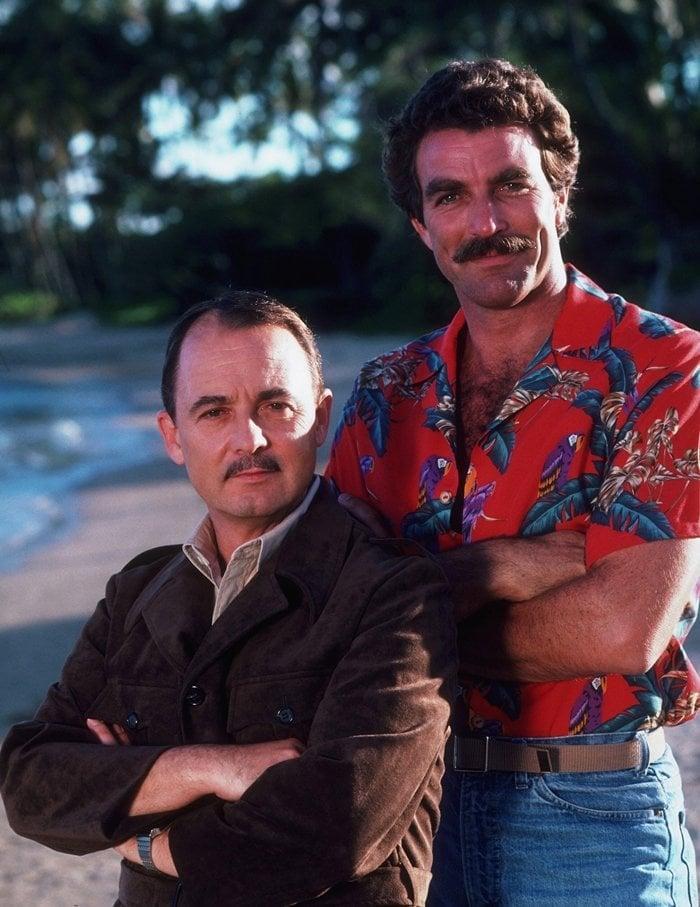 Magnum, P.I. (CBS) Season 2 1981-1982: John Hillerman (as Jonathan Quayle Higgins III/Elmo/Father Patty McGinnis), Tom Selleck (as Thomas Sullivan Magnum III)