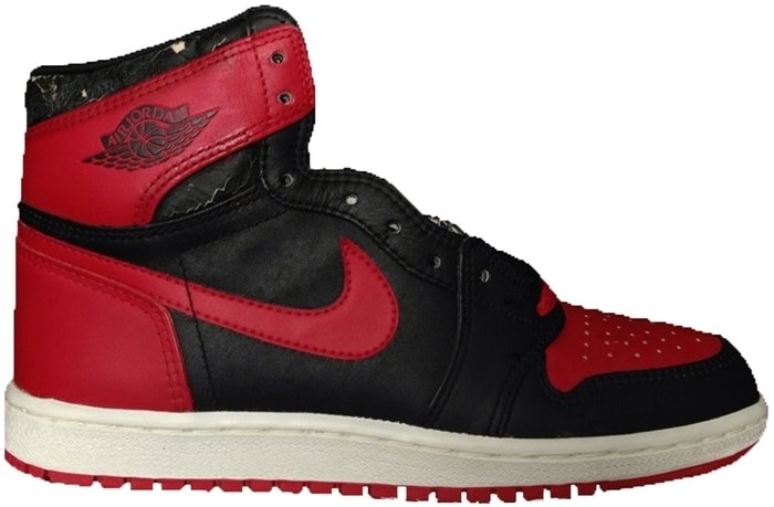 Originally released in April 1985 during Michael Jordan's rookie season with the Chicago Bulls, these Air Jordan 1 High sneakers sell for $15,000 on StockX