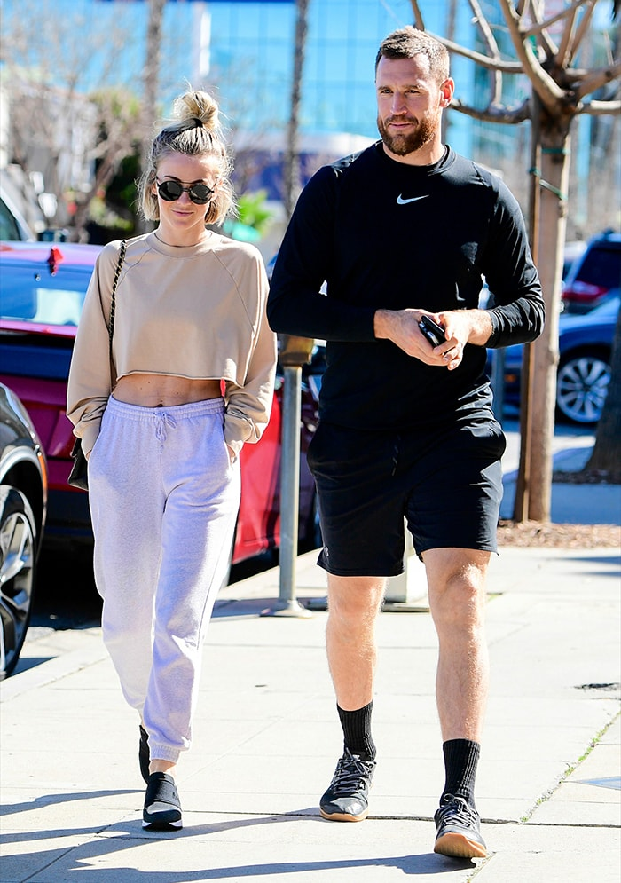 Julianne Hough and Brooks Laich pictured on February 1, 2020 three months before announcing their separation