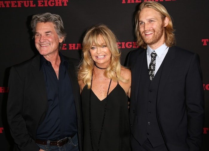 Actors Kurt Russell, Goldie Hawn and Wyatt Russell
