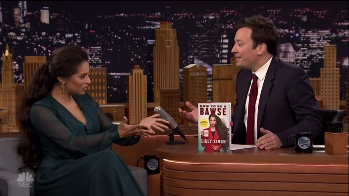 Lilly Singh promoted her book 'How to Be a Bawse: A Guide to Conquering Life'