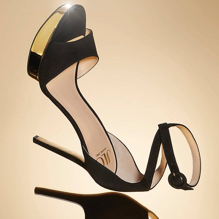 Gold/black metallic Malika platform sandals