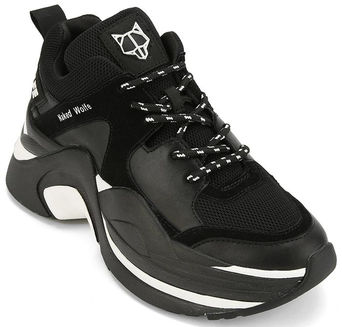 Black Naked Wolfe Track Platform Sneakers