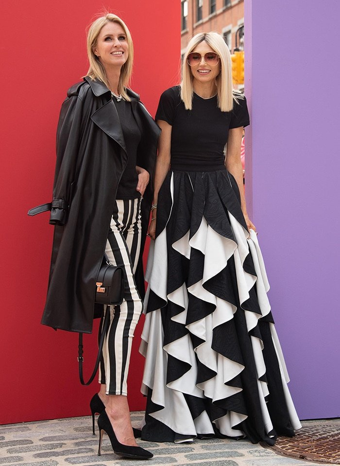 Nicky Hilton poses with Alice + Olivia creative director Stacey Bendet