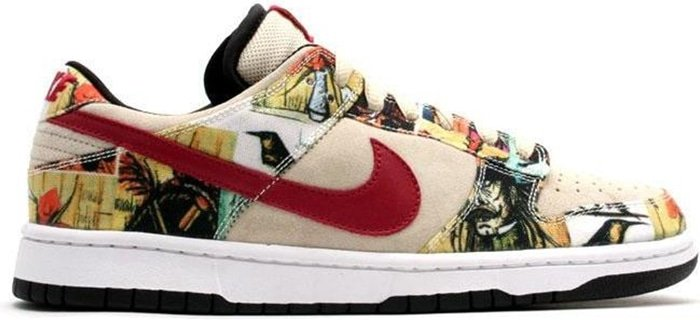 The most expensive Nike skateboarding sneakers on the market, the Paris Dunks featuring the workings of French painter Bernard Buffet retail for up to $65,000