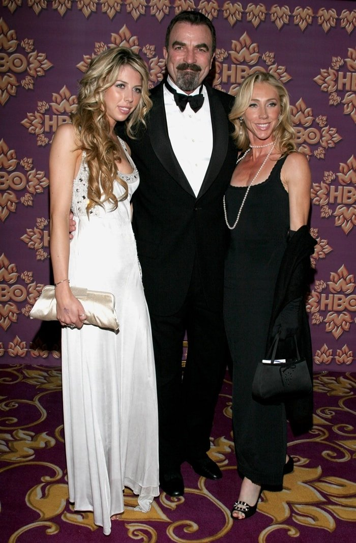Actor Tom Selleck (C), wife Jillie Mack (R), and daughter Hannah (L) at HBO's Post Award Reception
