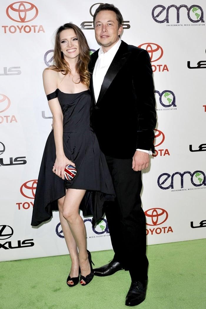 Talulah Riley and Elon Musk attend the 2012 Environmental Media Awards