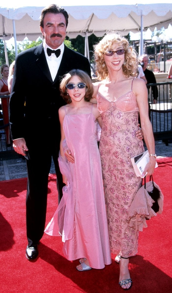 Tom Selleck with his wife Jillie Mack and his daughter Hannah Margaret Selleck at the 2000 Emmy Awards