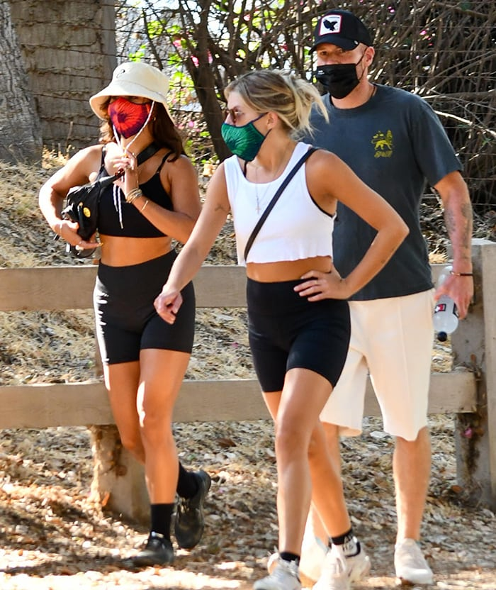 Vanessa Hudgens goes hiking with friends in Los Angeles on September 3, 2020