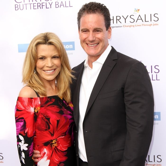 John Donaldson (R) and his girlfriend Vanna White at the 16th Annual Chrysalis Butterfly Ball