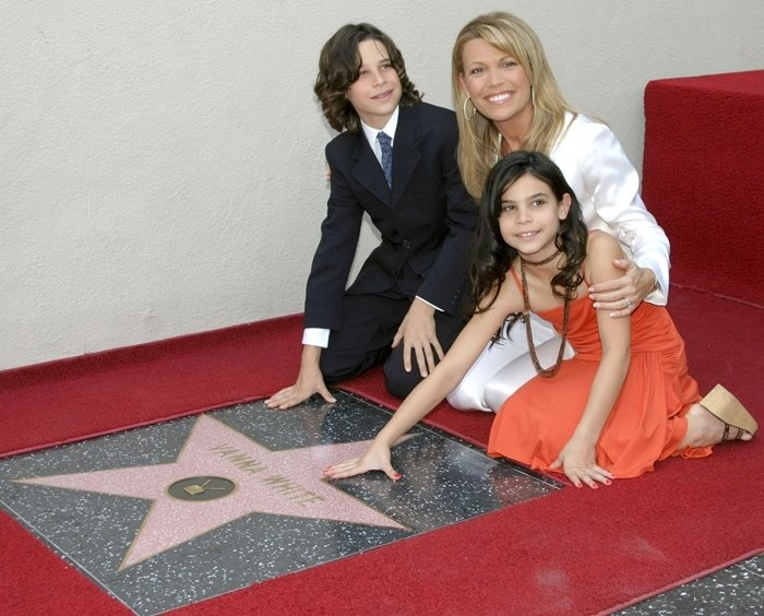 Vanna White with her children Nikko Santo and Gigi Santo Pietro