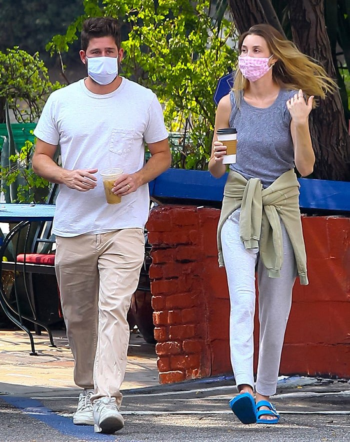 Whitney Port and her husband Tim Rosenman step out to grab some coffee in Los Angeles on September 23, 2020