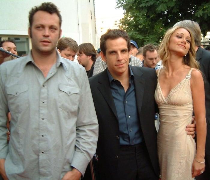 Ben Stiller, Christine Taylor, and Vince Vaughn at the German premiere of Dodgeball: A True Underdog Story
