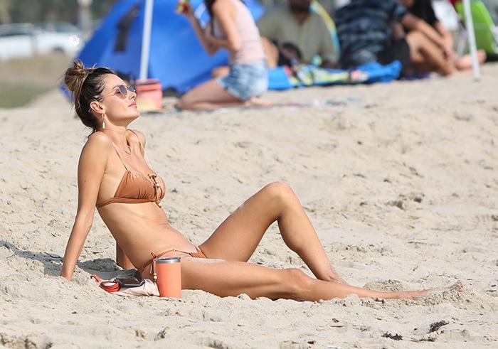 Alessandra Ambrosio basks in the sun in GAL Floripa Astral bikini set