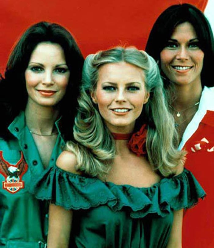Jaclyn Smith, Cheryl Ladd, and Kate Jackson in Charlie's Angels