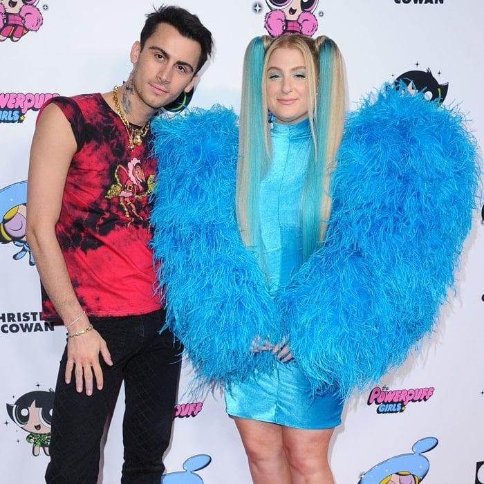 Christian Cowan and Meghan Trainor attend Christian Cowan x Powerpuff Girls Runway Show