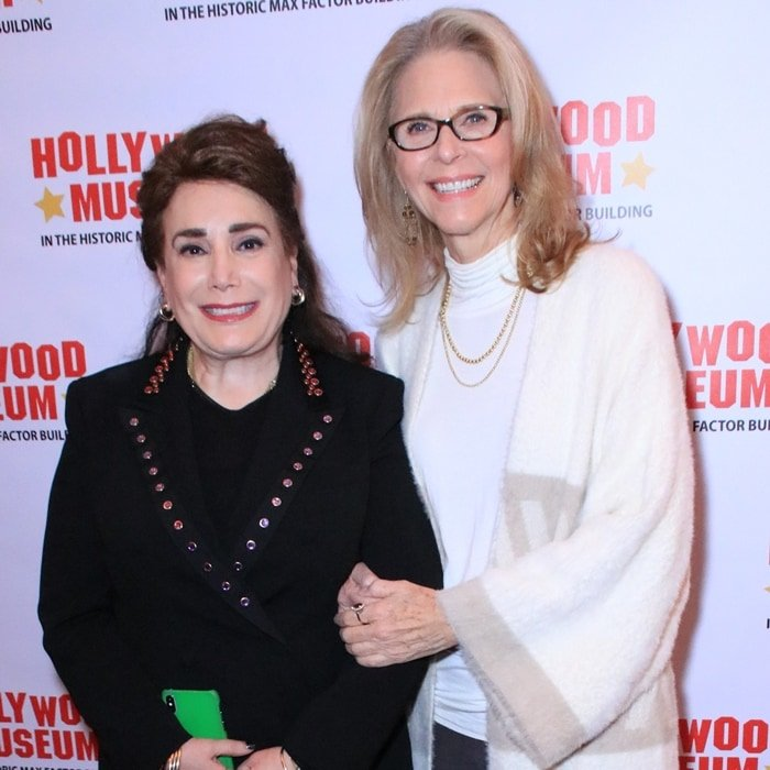 Founder/President Donelle Dadigan of the Hollywood Museum and actress Lindsay Wagner