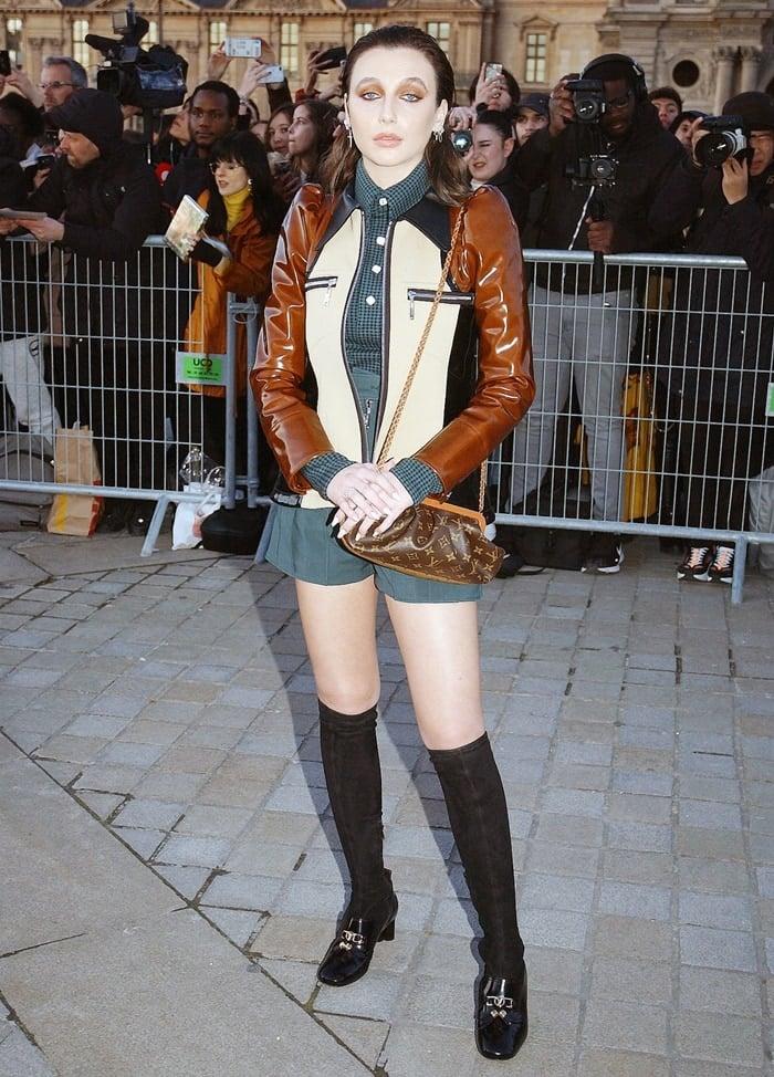 Emma Chamberlain attends the Louis Vuitton show