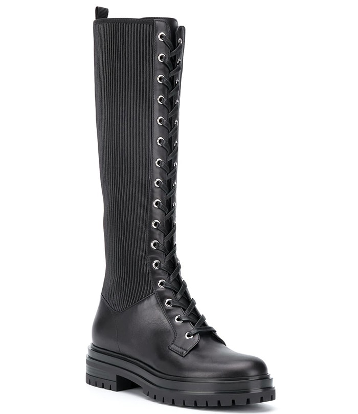 Gianvito Rossi Martis ribbed combat boots