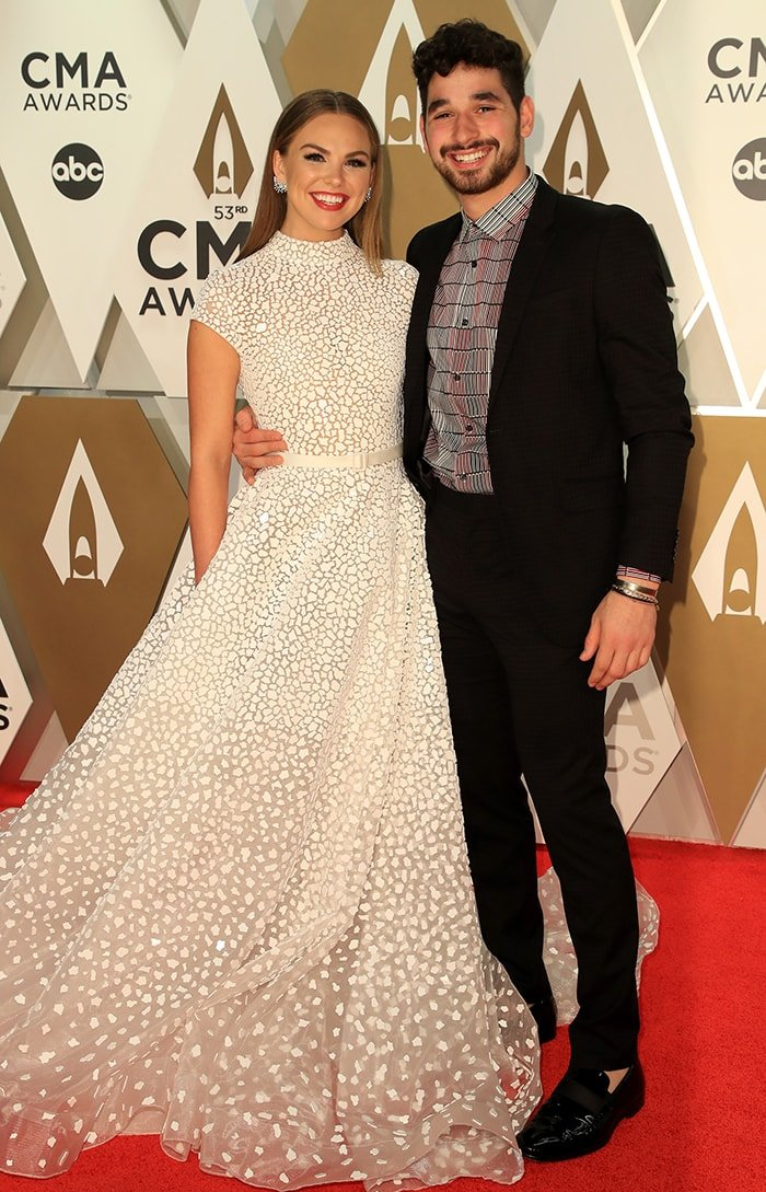 Hannah Brown and Alan Bersten, pictured at the CMA Awards 2019, named DWTS Season 28 champions