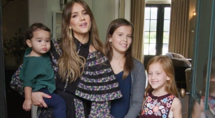 Jessica Alba and her children show off their gorgeous home