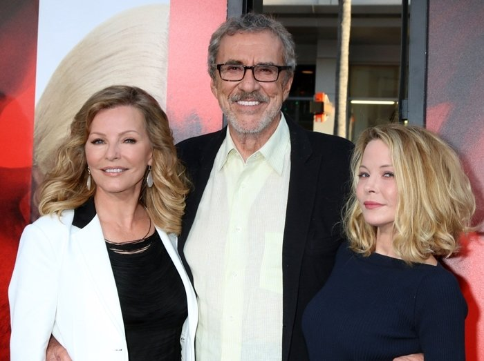 Actress Jordan Ladd, her mother Cheryl Ladd, and her stepfather Brian Russell