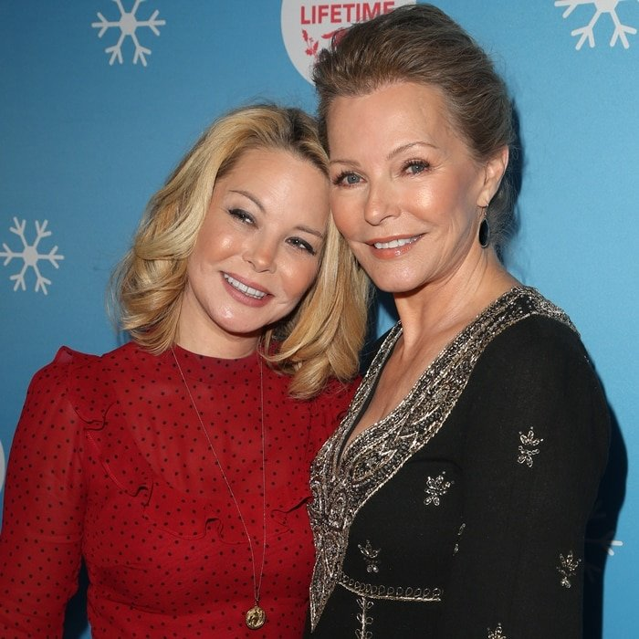 Actresses Jordan Ladd (L) and Cheryl Ladd attend the opening night celebration of the Life-Sized Gingerbread House Experience