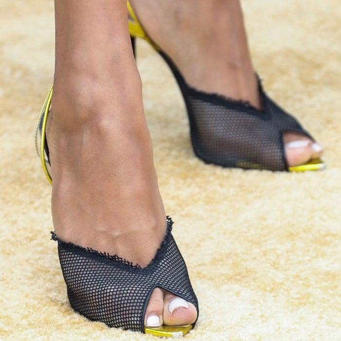 Karrueche Tran's sexy feet are shoe size 7 (US) (Credit: Avalon / WENN)