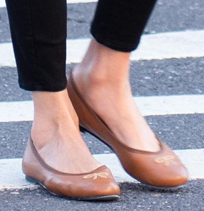 Nicky Hilton slips into her favorite French Sole ballet flats