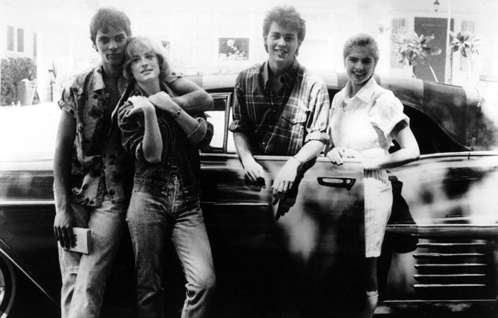Nick Corri, Amanda Wyss, Johnny Depp, and Heather Langenkamp starred in A Nightmare on Elm Street, a 1984 American slasher film written and directed by Wes Craven
