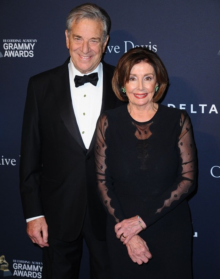 Paul Pelosi and Nancy Pelosi attend the Pre-GRAMMY Gala