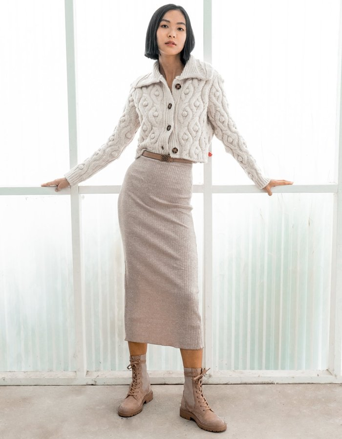 Wear these boots with your favorite long skirt and sweater for an unexpected take on a cool-weather look
