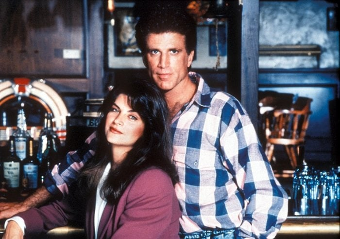 Kirstie Alley (as Rebecca Howe) and Ted Danson (as Sam Malone) on Cheers, an American sitcom television series that ran on NBC from September 30, 1982, to May 20, 1993