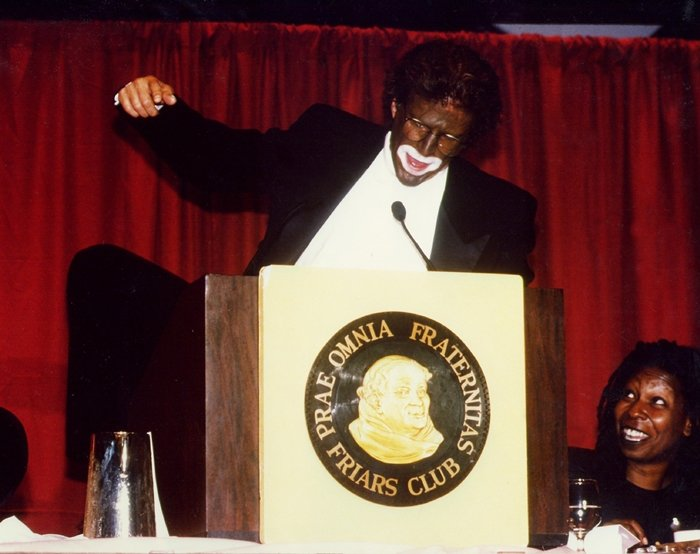 Ted Danson roasted his then-girlfriend Whoopi Goldberg in blackface at the Friars Club in New York City