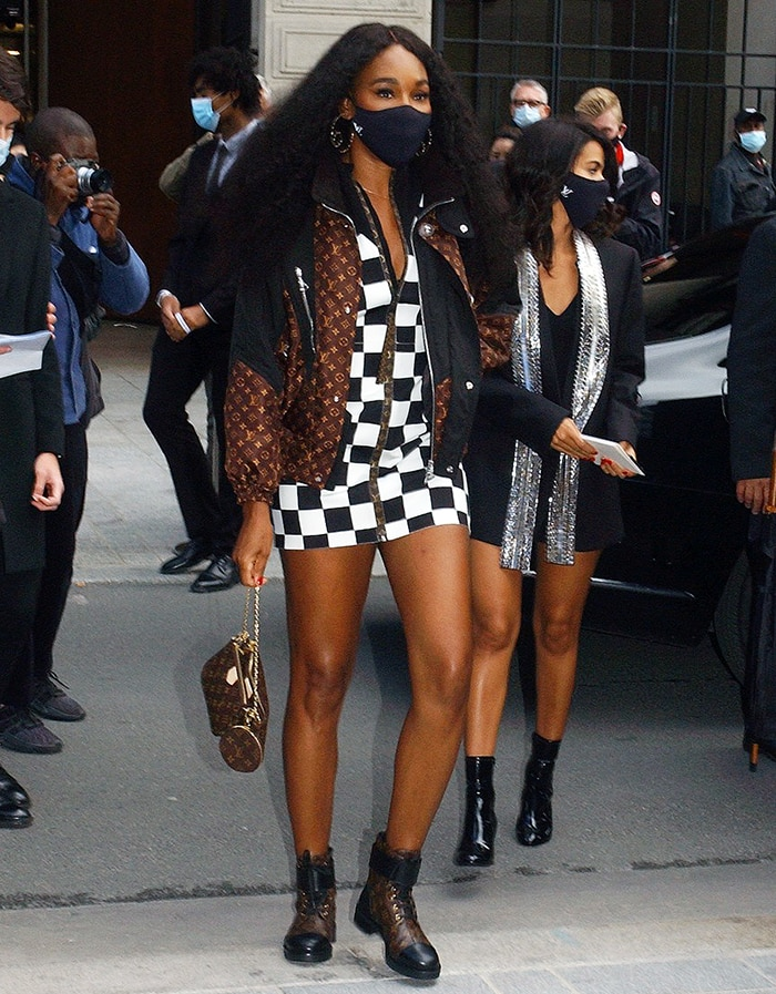 Venus Williams attends the Louis Vuitton Spring/Summer 2021 show during Paris Fashion Week on October 6, 2020