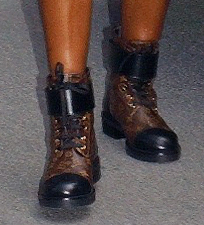 Venus Williams completes her head-to-toe Louis Vuitton look with Wonderland Flat Ranger boots